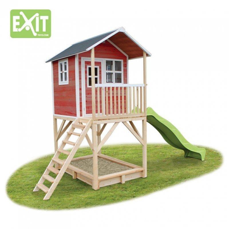 Zahradní cedrový domeček Exit Loft 700 červený