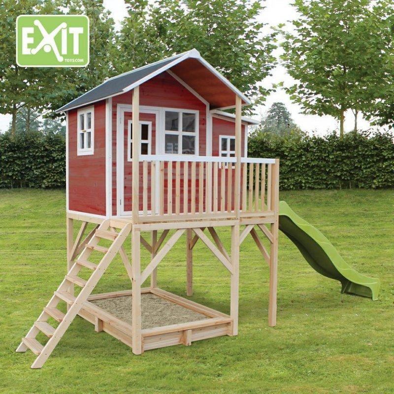 Zahradní cedrový domeček Exit Loft 750 červený
