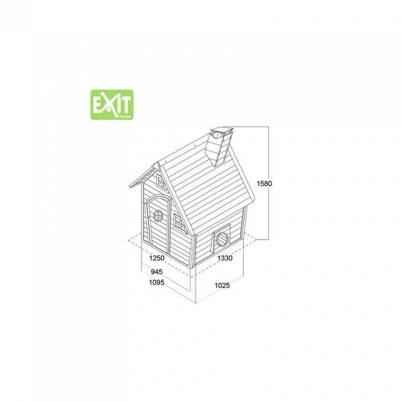 Zahradní cedrový domeček Exit Fantasia 100 přírodní