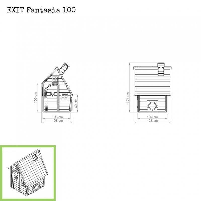 Zahradní cedrový domeček Exit Fantasia 100 červený