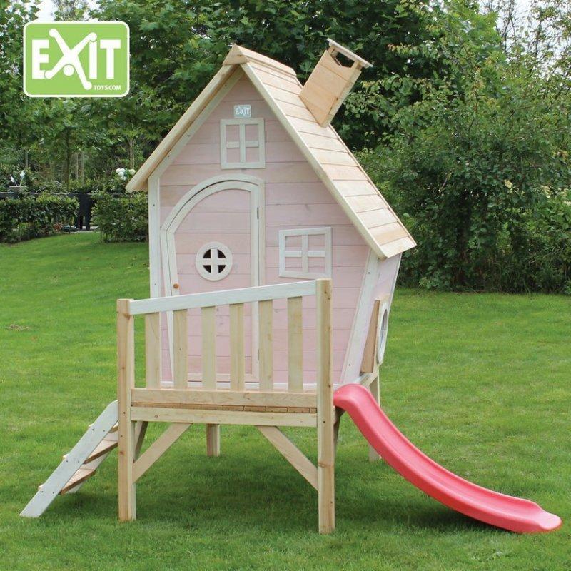 Zahradní cedrový domeček Exit Fantasia 300 růžový