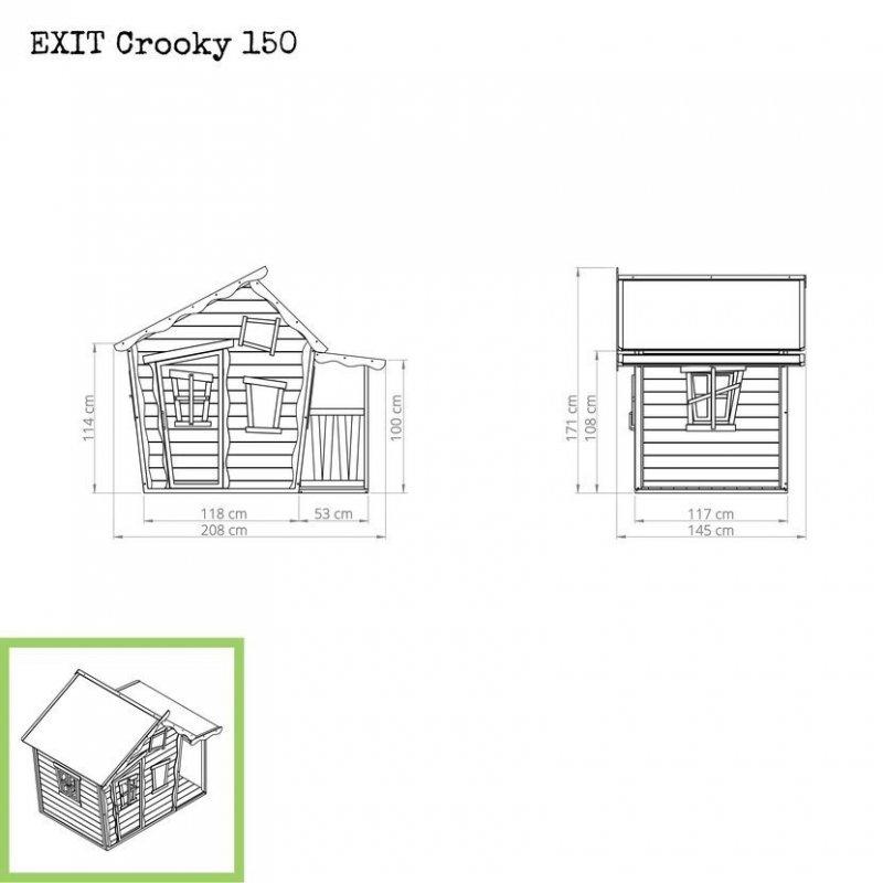 Zahradní cedrový domeček Exit Crooky 150