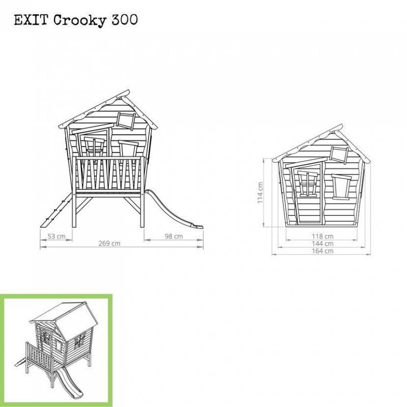 Zahradní cedrový domeček Exit Crooky 300