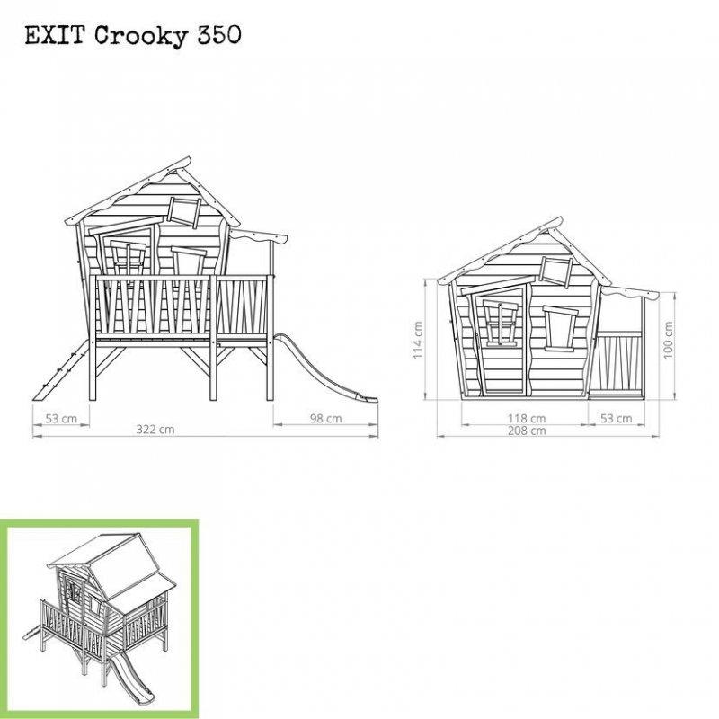 Zahradní cedrový domeček Exit Crooky 350