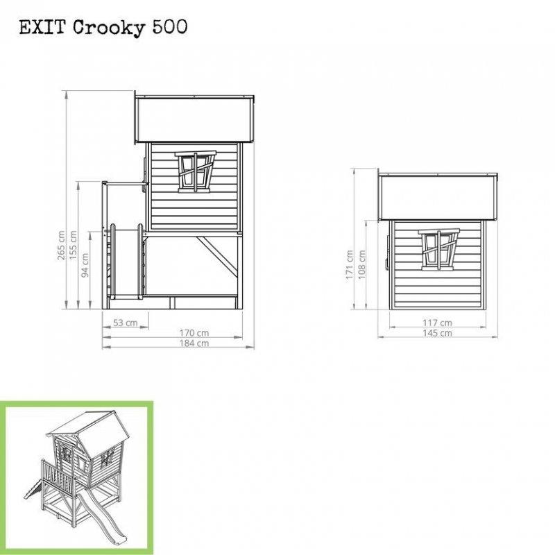 Zahradní cedrový domeček Exit Crooky 500