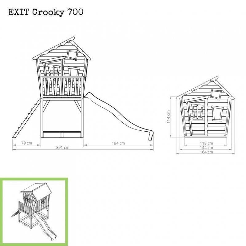 Zahradní cedrový domeček Exit Crooky 700