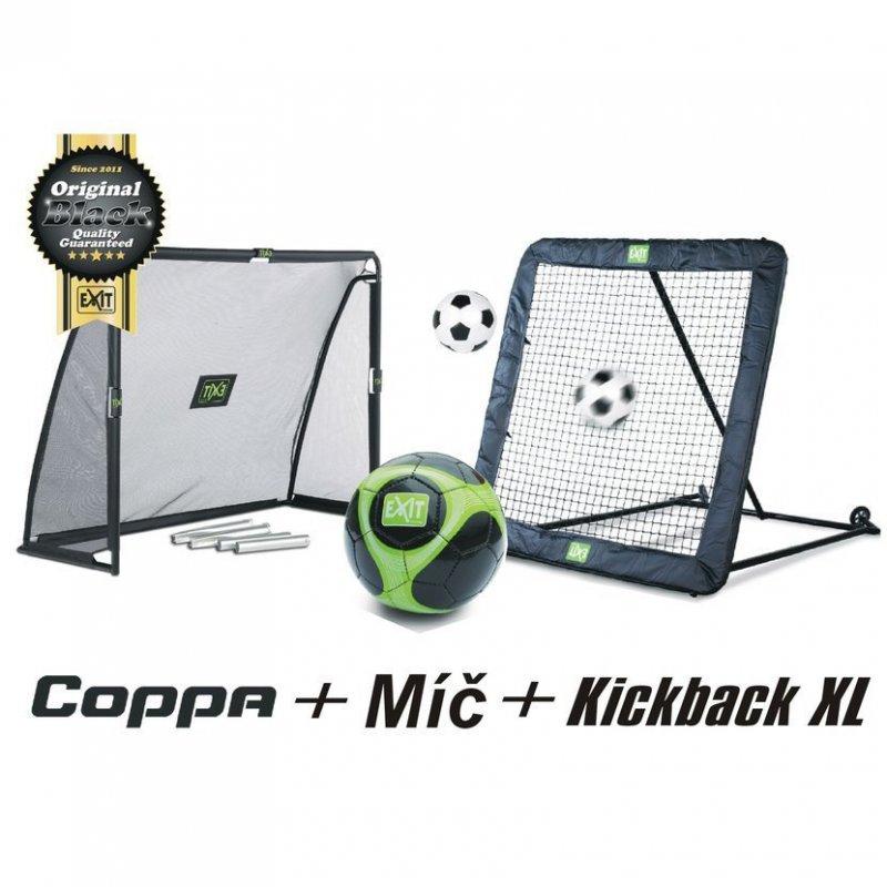 Fotbalový set XL branka + nahrávač