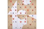 ⭐ Dětská lezecká stěna ⭐ sada BLOCKids 6 vnitřní pro MŠ a ZŠ s dopadovou matrací