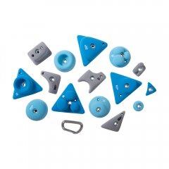 BLOCKids – venkovní extra sada modrých lezeckých chytů