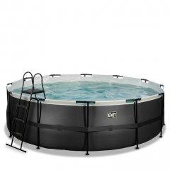 Bazén Exit ø 457 x 122 cm s pískovou filtrací - barva černá, kůže