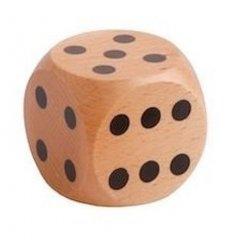 Náhradní dřevěná kostka pro děti 5,4 cm