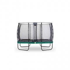 Trampolína EXIT Elegant se sítí Economy 244 x 427 cm Zelená