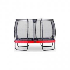 Trampolína EXIT Elegant Premium se sítí Deluxe 244 x 427 cm Červená