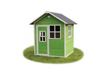 Je domeček EXIT Toys loft 100 natřený?