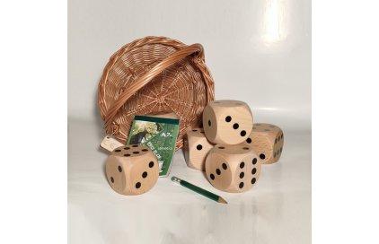 Zábava doma i na zahradě. Velké dřevěné kostky pro děti
