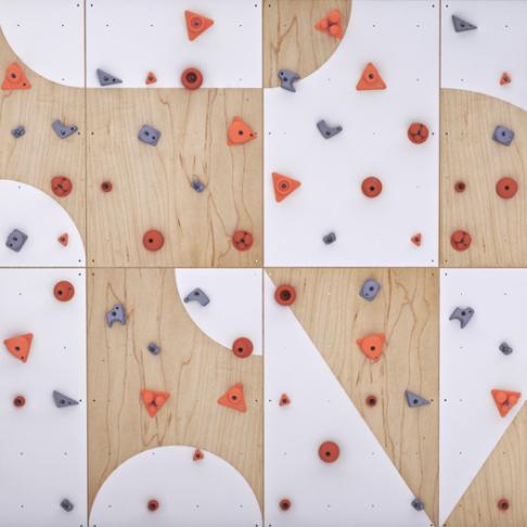 ⭐ Dětská lezecká stěna ⭐ sada BLOCKids 8 vnitřní pro MŠ a ZŠ s dopadovou matrací