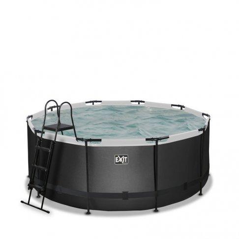 Bazén Exit ø 360 x 122 cm s filtrací - barva černá, kůže