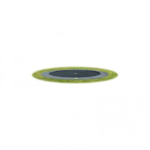 Trampolína EXIT InTerra Ground Level 366 cm - šedá