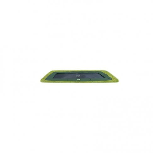 Trampolína EXIT InTerra Ground Level 244 x 427 cm Zelená