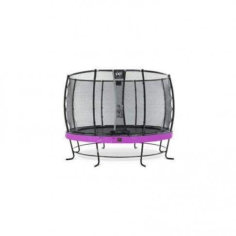 Trampolína EXIT Elegant Premium se sítí Deluxe 366 cm Fialová