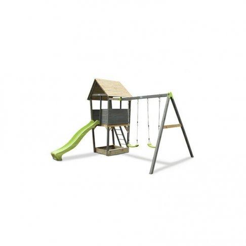 Dětské hřiště Exit Aksent Playtower + houpačkové rameno 2 houpačky