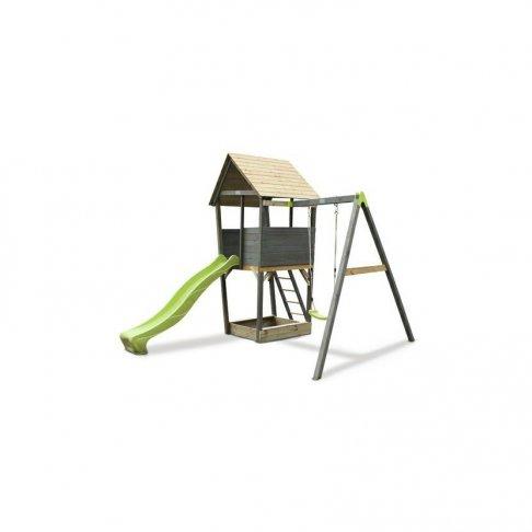 Dětské hřiště Exit Aksent Playtower + houpačkové rameno 1 houpačka