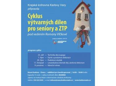 Cyklus výtvarných dílen pro seniory a ZTP