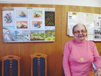 Malujeme pro radost v klubu důchodců pod vedením Marie Pludkové