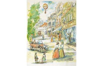 akvarel Františka Fuksy