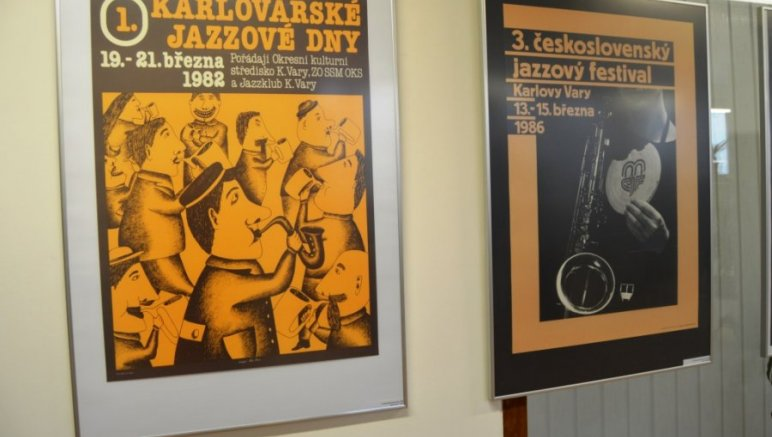 Plakát pro Karlovarský jazzový festival 1982-2009