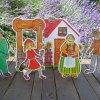 Červená Čiapočka - bábky, chalúpka, studňa