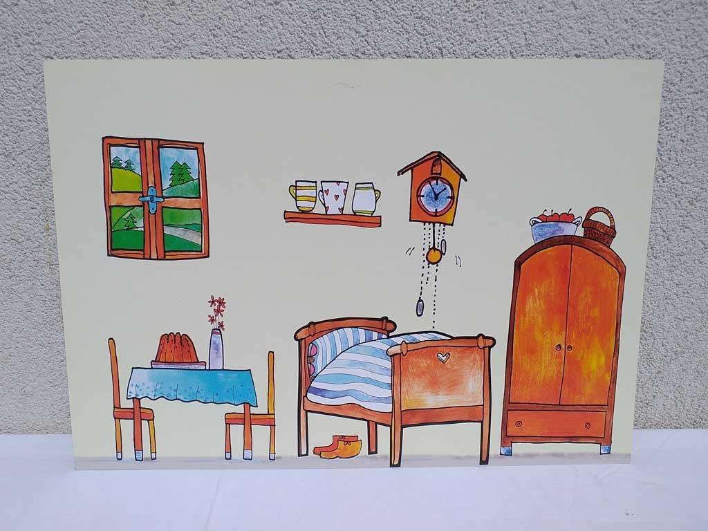 Červená Čiapočka - bábky, scéna