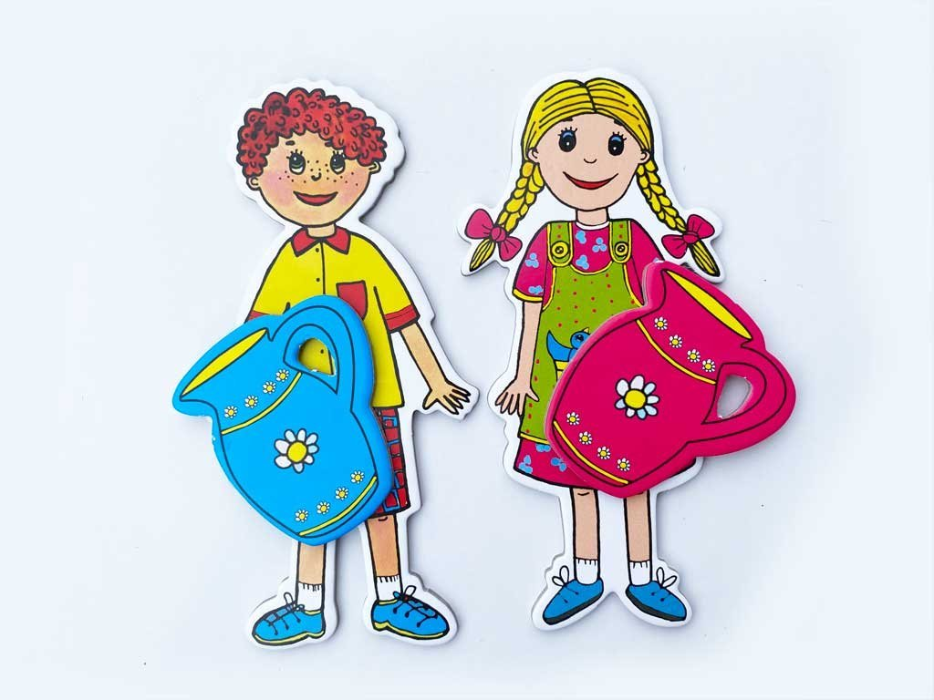 Janko a Marienka - bábky, medovníkový domček