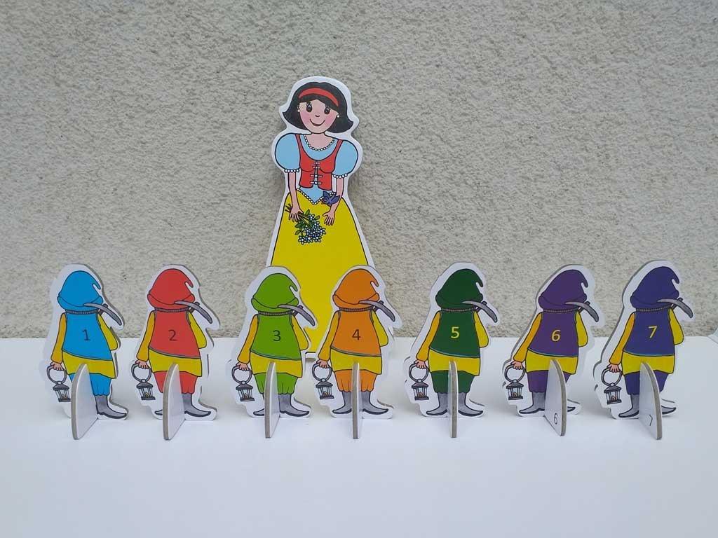 Snehulienka a sedem trpaslíkov - bábky, zrkadlo