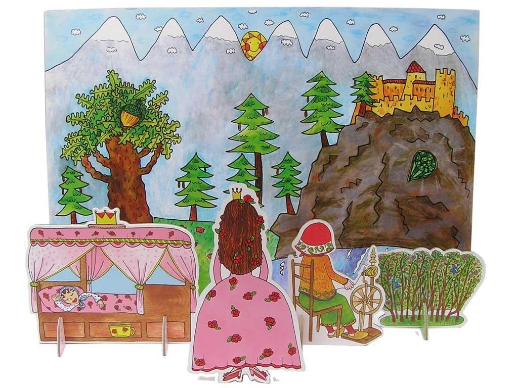 Šípková Ruženka - bábky, kulisy, pozadie