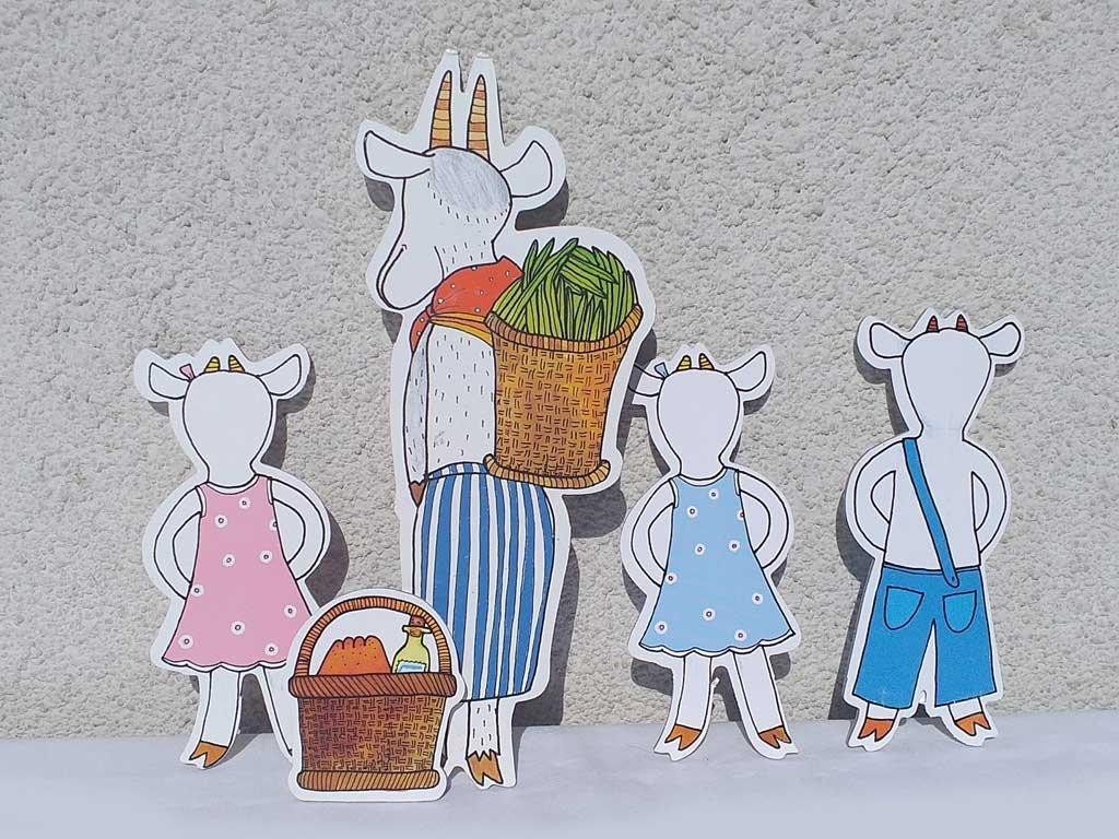 Koza a kozliatka - bábky Marionetino