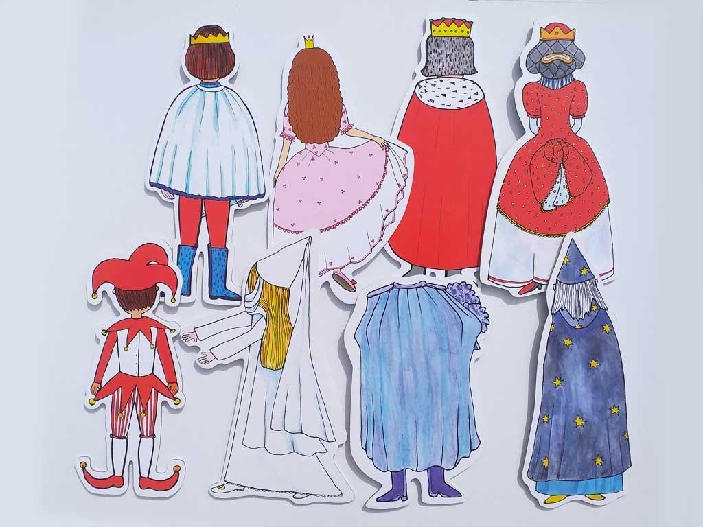 Veľká kráľovská sada - bábky, kulisy