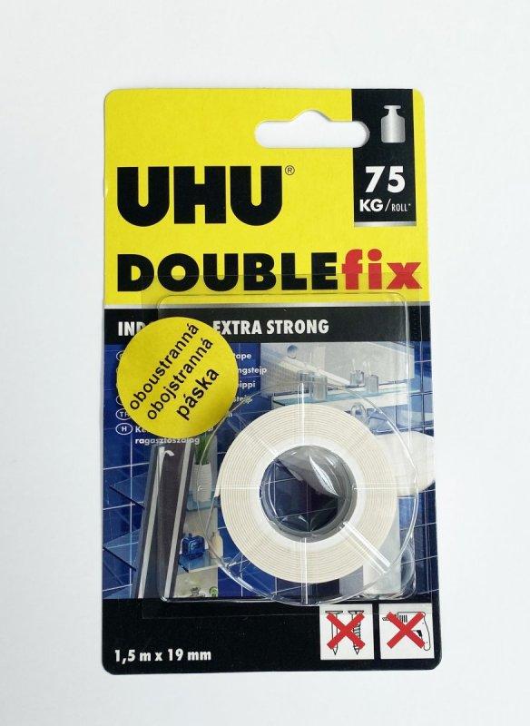 UHU DOUBLEfix 1,5m bílé oboustranné lepící pásky