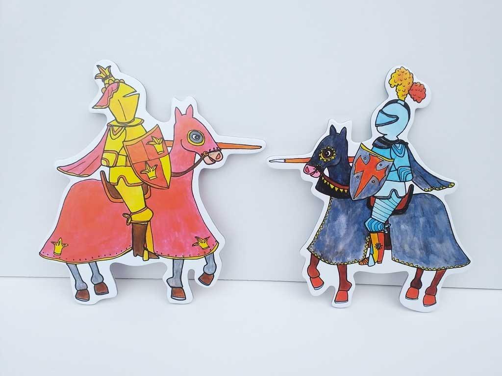 Rytieri na koňoch - bábky