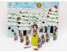 Snehulienka a sedem trpaslíkov - bábky, scéna