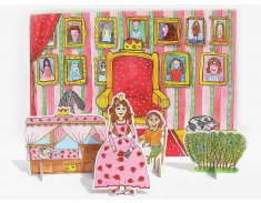 Šípková Ruženka - bábky, scéna