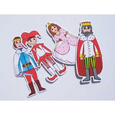 Gašparko, princezná, princ, kráľ - bábky