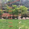 Dřevěný závěsný provazový žebřík