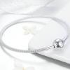 Bamoer stříbrný náramek klasický - hadovitý