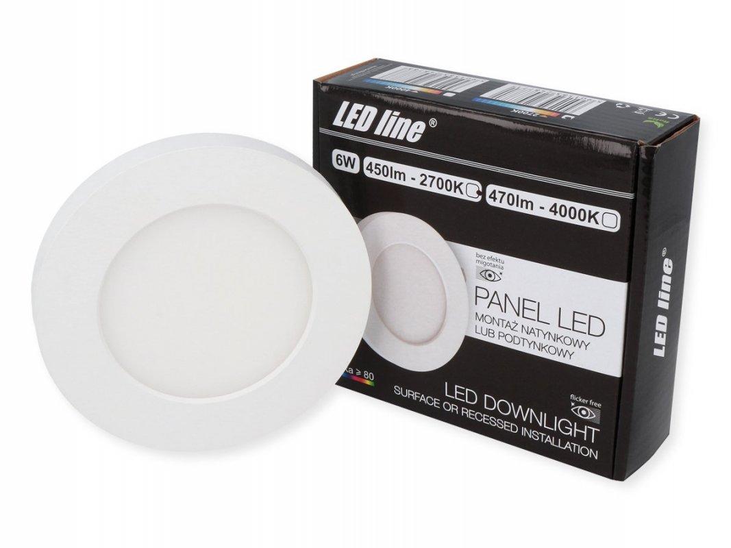 Led Line LED panel vestavný 6W 450lm teplá