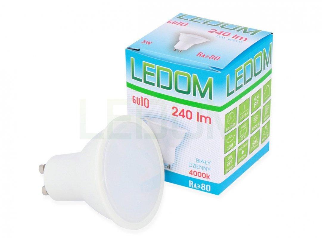 Ledom LED žárovka GU10 3W 240lm denní (20W)