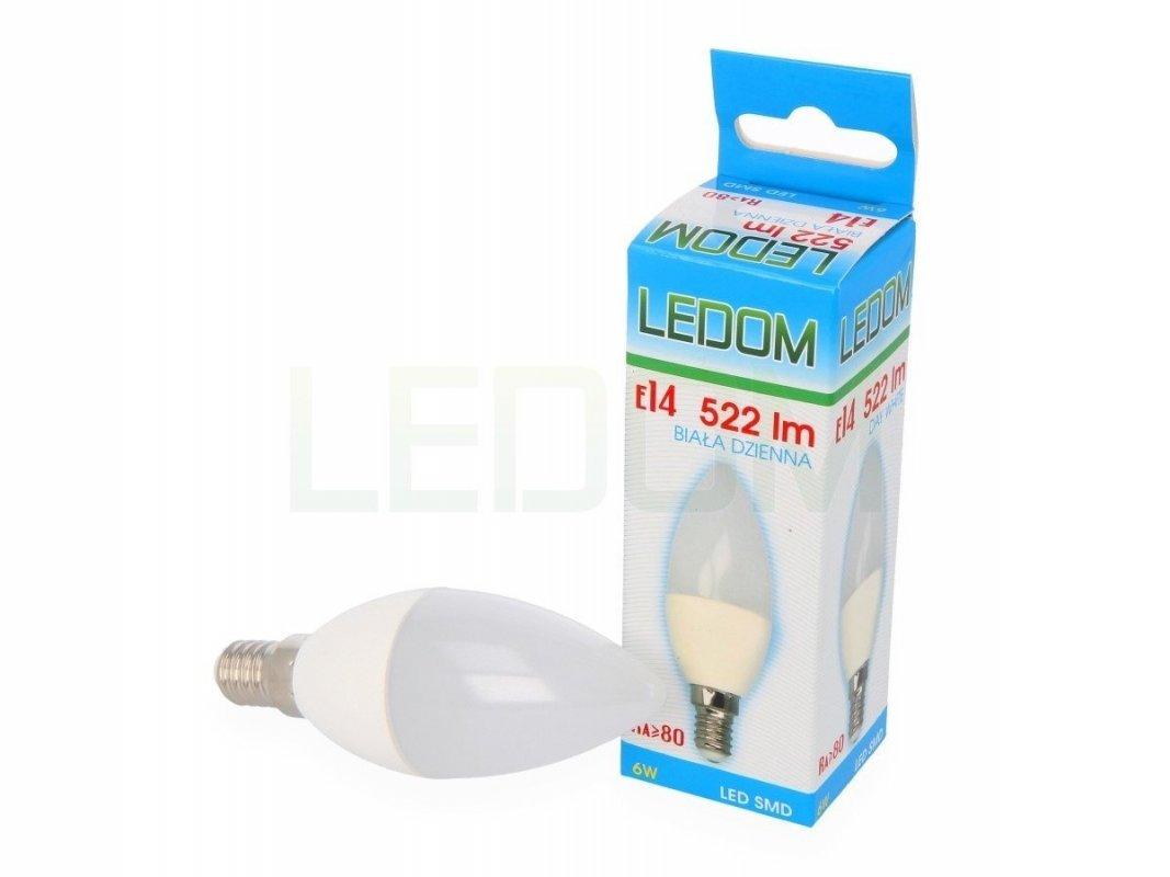 Ledom LED svíčka E14 6W 522lm neutrální (50W)