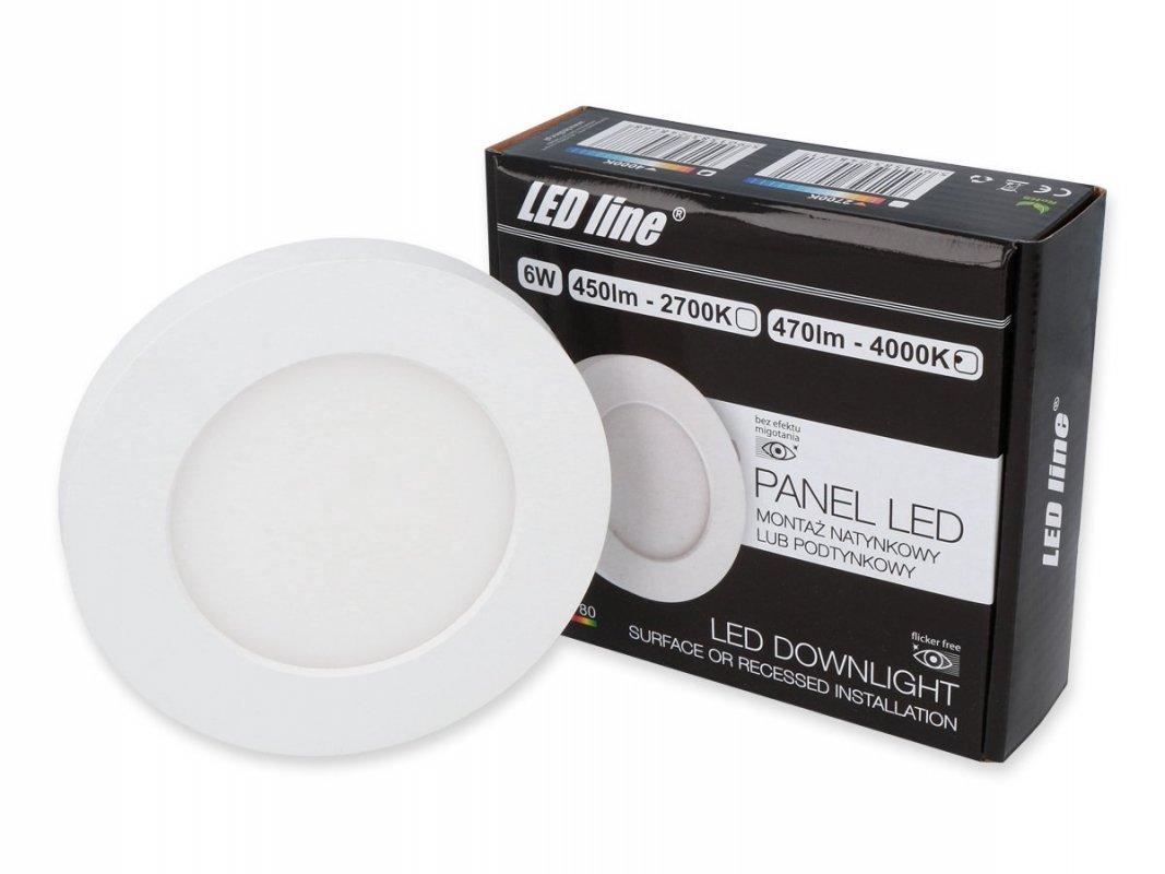 Led Line LED panel vestavný 6W 470lm denní