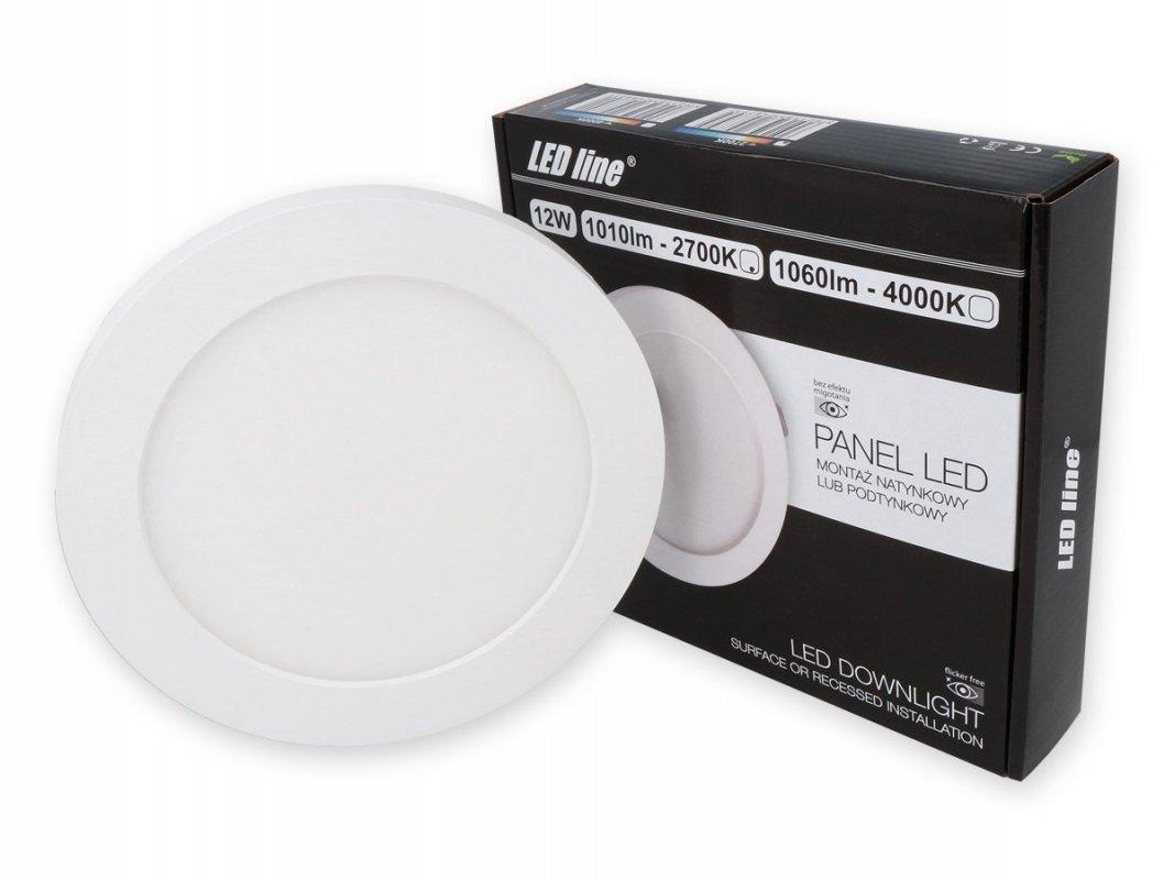 Led Line LED panel vestavný 12W 1010lm teplá