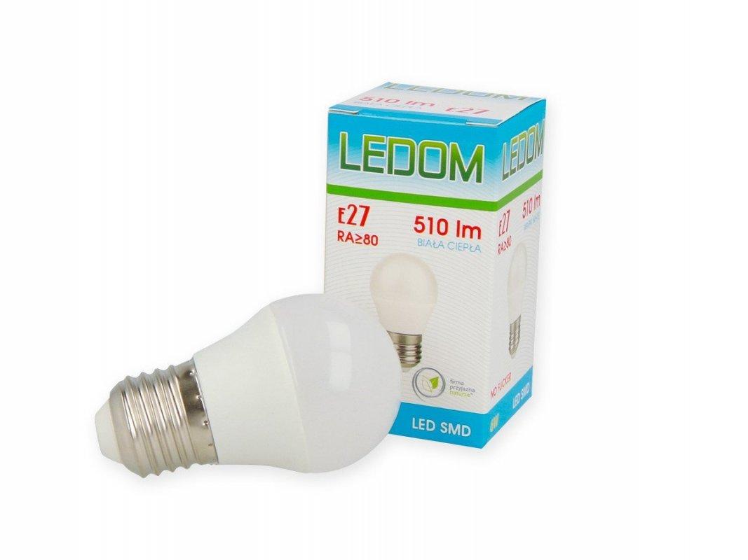 Ledom LED žárovka E27 SMD 6W 510lm teplá (50W)